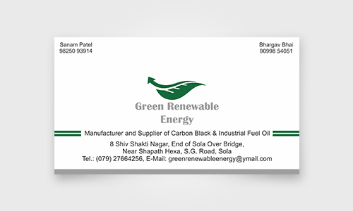 Green Renewable Energy Business Card Design Neel